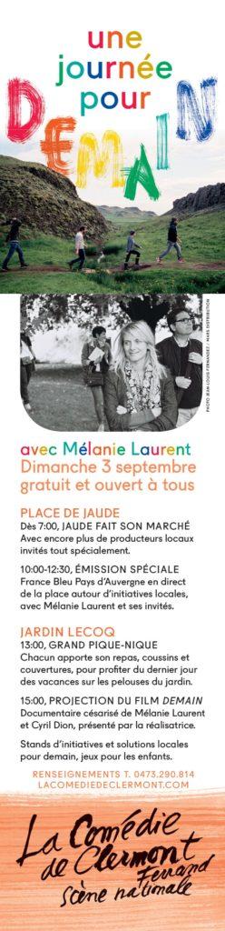 Une journée pour demain, Comédie Clermont-Ferrand