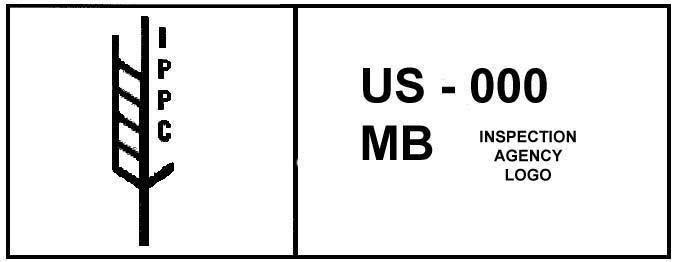 """Logo imprimé sur une palette """"US-000 MB"""""""