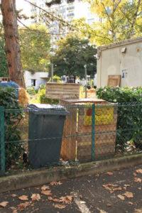 Point d'apport volontaire des bio-déchets situé au 109 de l'avenue de Fontgiève.