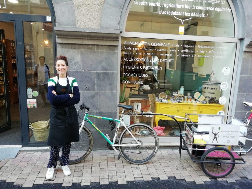 Partenaire de collecte des biodéchets : La Petite Réserve avec Sandrine.