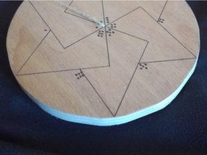 Tracé définitif des zones du plateau de jeu en correspondance avec les constellations du dé.