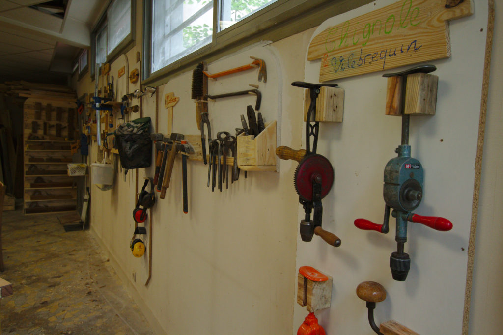 Photo des outils (chignoles et vilebrequins)