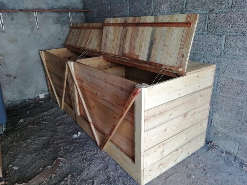 Bacs compost partagés fait par Terra Preta à La Goguette