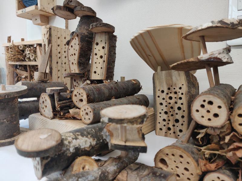 Atelier Bois Coopératif : hôtels à insectes