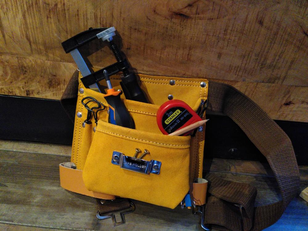 Photo d'une ceinture porte outils (pas besoin de beaucoup de matériel)